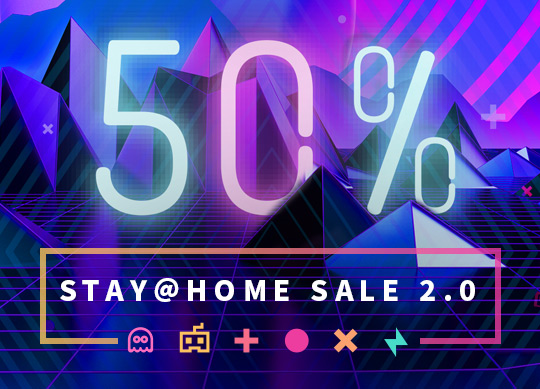 50% discount in Stay@Home Sale 2.0!