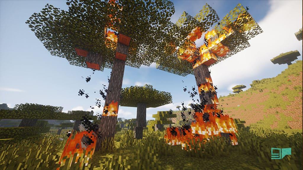 fire in minecraft