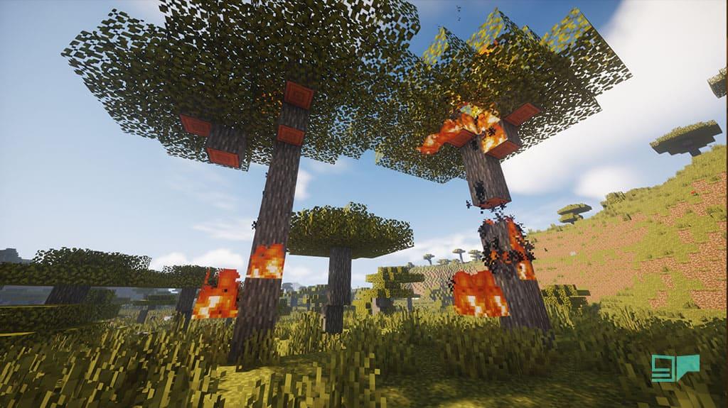 minecraft fire